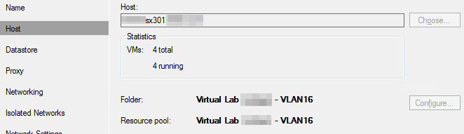 Veeam Sure Backup - VLAB Host